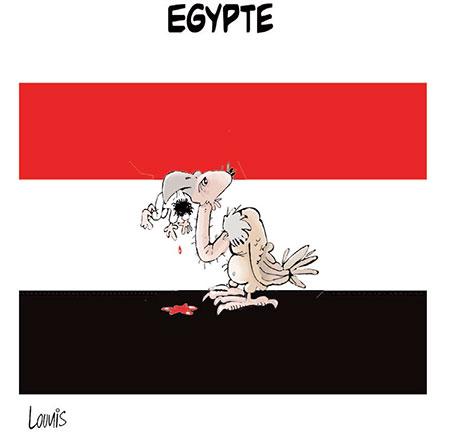 Egypte - Dessins et Caricatures, Lounis Le jour d'Algérie - Gagdz.com