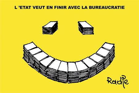 L'état veut en finir avec la bureaucratie - Dessins et Caricatures, Ghir Hak - Les Débats - Gagdz.com