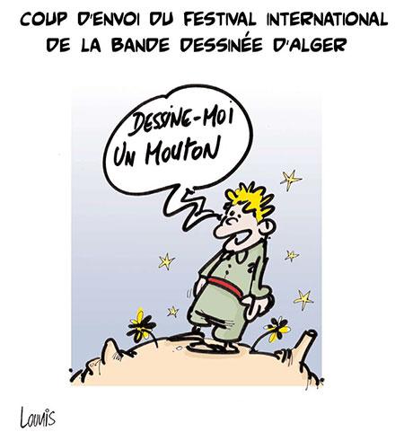 Coup d'envoi du festival international de la bande dessinée d'Alger - Dessins et Caricatures, Lounis Le jour d'Algérie - Gagdz.com