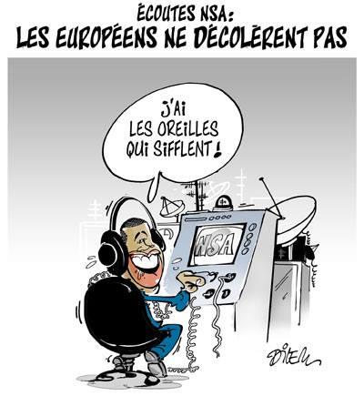 Écoutes NSA : Les européens ne décolèrent pas - Dessins et Caricatures, Dilem - TV5 - Gagdz.com