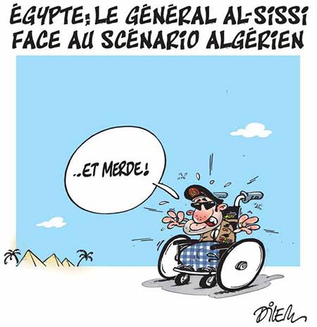 Egypte: Le général Al-sissi face au scénario algérien - Dessins et Caricatures, Le Hic - El Watan - Gagdz.com