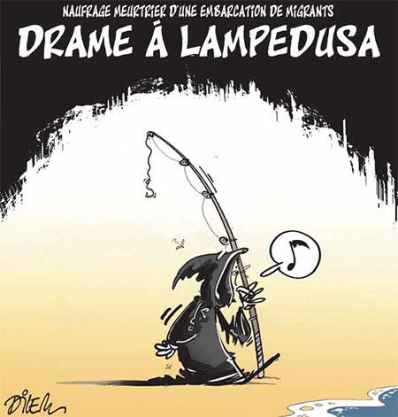 Drame à Lampedusa - Dessins et Caricatures, Dilem - Liberté - Gagdz.com