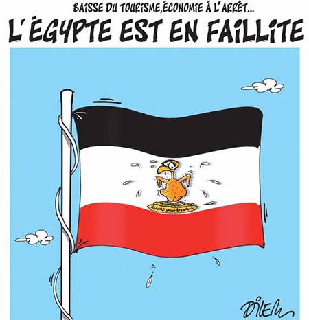 L'Egypte est en faillite - Dessins et Caricatures, Dilem - Liberté - Gagdz.com
