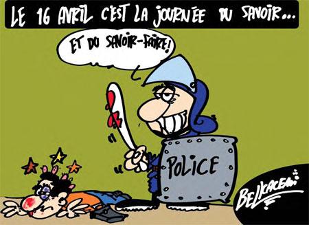 Le 16 avril c'est la journée du savoir - Belkacem - Le Courrier d'Algérie, Dessins et Caricatures - Gagdz.com