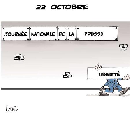 22 octobre - Dessins et Caricatures, Lounis Le jour d'Algérie - Gagdz.com