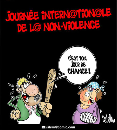 Journée internationale de la non-violence - Dessins et Caricatures, Islem - Le Temps d'Algérie - Gagdz.com