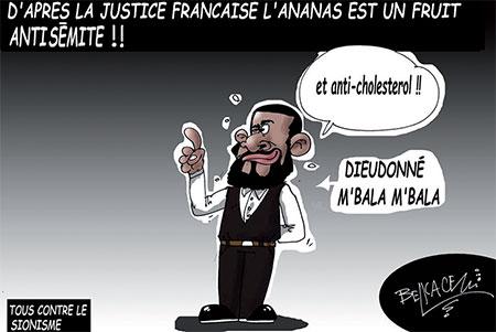 D'après la justice française l'ananas est un fruit antisémite - Belkacem - Le Courrier d'Algérie, Dessins et Caricatures - Gagdz.com