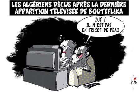 Les Algériens déçus après la dernière apparition télévisée de Bouteflika - Dessins et Caricatures, Le Hic - El Watan - Gagdz.com