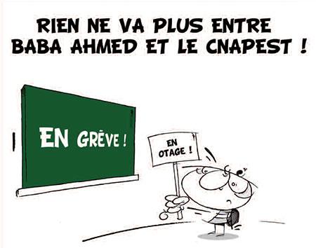 Rien ne va plus entre Baba Ahmed et le Cnapest - Dessins et Caricatures, Vitamine - Le Soir d'Algérie - Gagdz.com