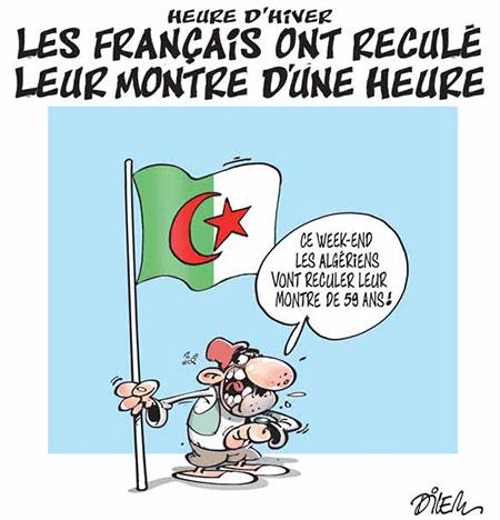 Les Français ont reculé leur montre d'une heure - Dilem - Liberté - Gagdz.com