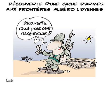 Découverte d'une cache d'armes aux frontières algéro-libiennes - Lounis Le jour d'Algérie - Gagdz.com