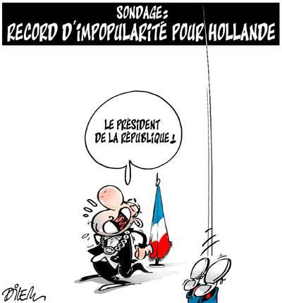 Sondage : Record d'impopularité pour Hollande
