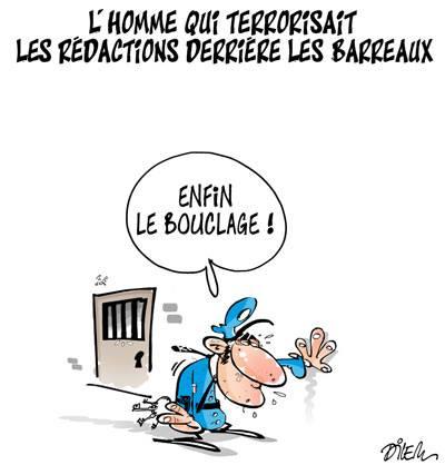 L'homme qui terrorisait les rédactions derrière les barreaux - Dessins et Caricatures, Dilem - TV5 - Gagdz.com