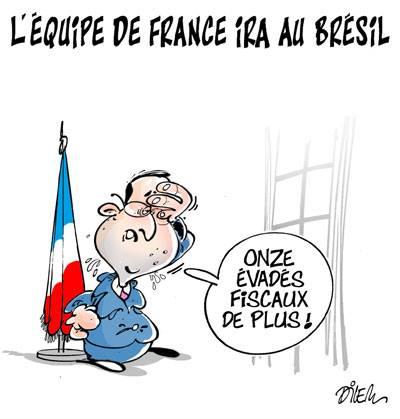 L'équipe de France ira au Brésil - Dessins et Caricatures, Dilem - TV5 - Gagdz.com