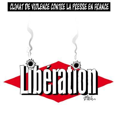 Climat de violence contre la presse en France - Dessins et Caricatures, Dilem - TV5 - Gagdz.com