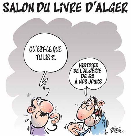 Salon du livre d 39 alger caricatures et humour for Salon du tourisme alger