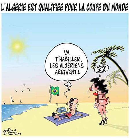 L'Algérie est qualifiée pour la coupe du monde - Dilem - Liberté - Gagdz.com