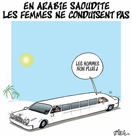 En Arabie Saoudite les femmes ne conduisent pas