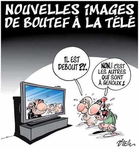 Nouvelles images de Boutef à la télé - Dilem - Liberté - Gagdz.com
