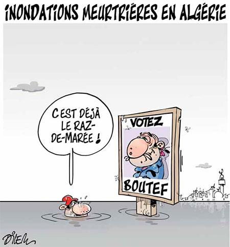 Inondation meurtrières en Algérie - Dilem - Liberté - Gagdz.com