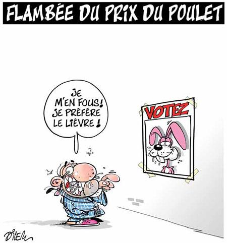 Flambée du prix du poulet - Dilem - Liberté - Gagdz.com