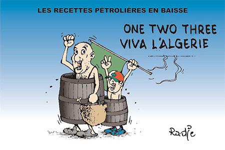 Les recettes pétrolières en baisse