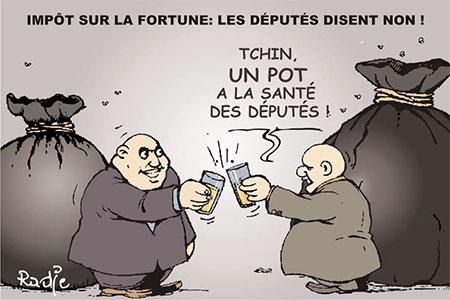 Impôt sur la fortune: Les députés disent non - Ghir Hak - Les Débats - Gagdz.com