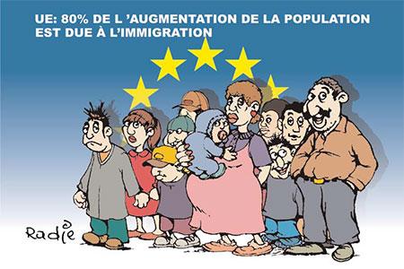 UE: 80% de l'augmentation de la population est due à l'immigration - Ghir Hak - Les Débats - Gagdz.com