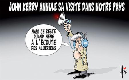 John Kerry annule sa visite dans notre pays
