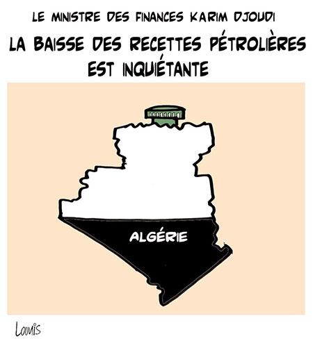 La baisse des recettes pétrolières est inquiétante