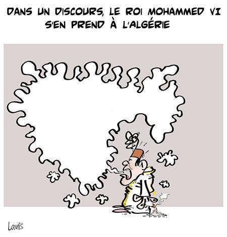 Dans un discours, le roi Mohamed VI s'en prend à l'Algérie - Lounis Le jour d'Algérie - Gagdz.com