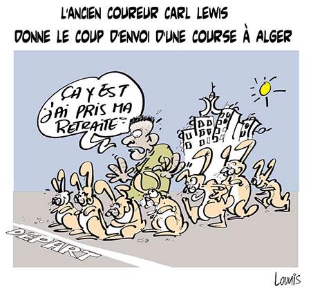 L'ancien coureur Carl Lewis donne le coup d'envoi d'une course à Alger - Lounis Le jour d'Algérie - Gagdz.com