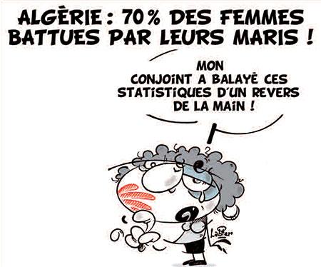 Algérie: 70% des femmes battues par leurs maris