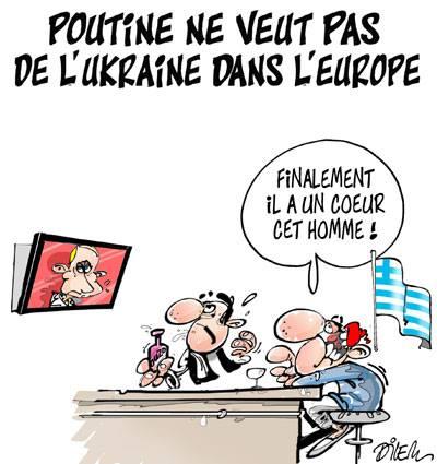 Poutine ne veut pas de l'Ukraine dans l'Europe - Dilem - TV5 - Gagdz.com