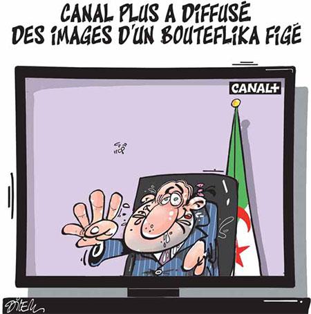 Canal plus a diffusé des images d'un Bouteflika figé - Dilem - Liberté - Gagdz.com