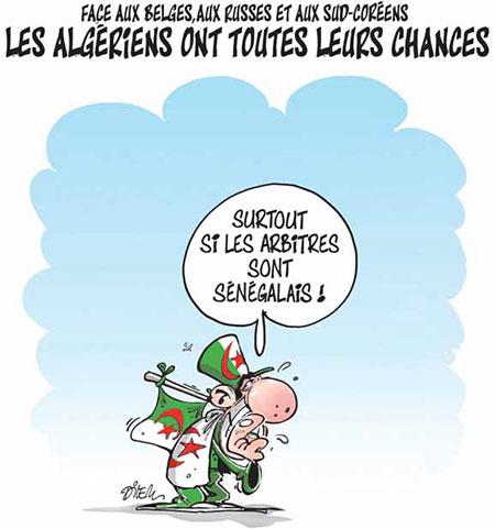 Les Algériens ont toutes leurs chances - Dilem - Liberté - Gagdz.com