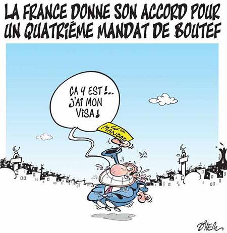 La France donne son accord pour un quatrième mandat de Boutef - Dilem - Liberté - Gagdz.com