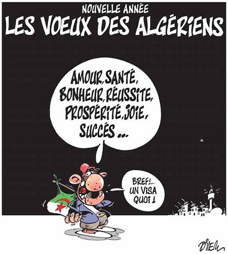 Nouvelle année: Les voeux des algériens - Dilem - Liberté - Gagdz.com