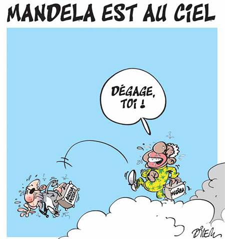 Mandela est au ciel - Dilem - Liberté - Gagdz.com
