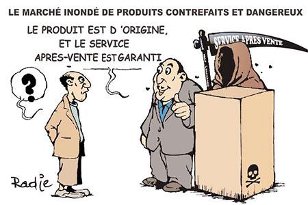 Le marché inondé de produits contrefaits et dangereux - Ghir Hak - Les Débats - Gagdz.com