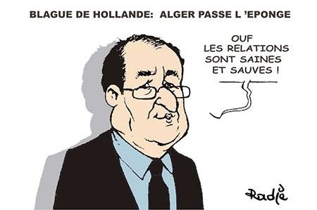 Blague de Hollande: Alger passe l'éponge