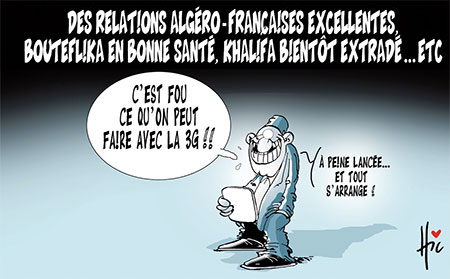 Relation algéro-française excellentes, Bouteflika en bonne santé, Khalifa bientôt extradé... - Le Hic - El Watan - Gagdz.com