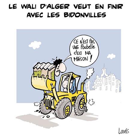 Le wali d'Alger veut en finir avec les bidonvilles - Lounis Le jour d'Algérie - Gagdz.com