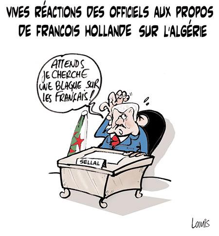 Vives réactions des officiels aux propos de François Hollande sur l'Algérie - Lounis Le jour d'Algérie - Gagdz.com