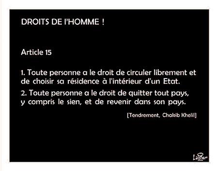 Droits de l'homme - Vitamine - Le Soir d'Algérie - Gagdz.com