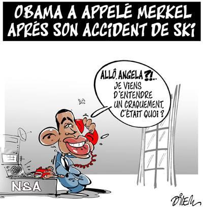Obama a appelé Merkel après son accident de ski - Dilem - TV5 - Gagdz.com