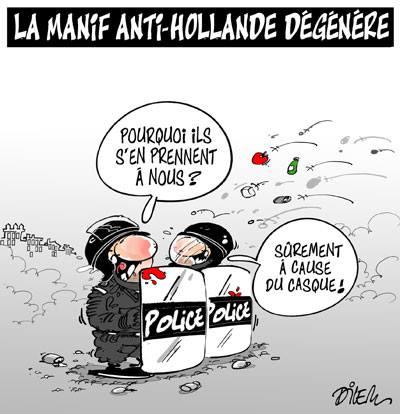 La manif anti-Hollande dégénère - Dilem - TV5 - Gagdz.com