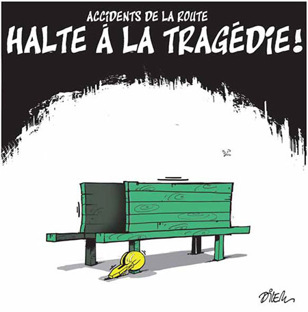 Accidents de la route: Halte à la tragédie - Dilem - Liberté - Gagdz.com