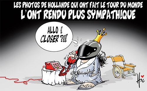 Les photos de Hollande qui ont fait le tour du monde l'ont rendu plus sympathique - Le Hic - El Watan - Gagdz.com