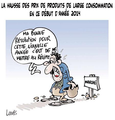 Hausse des prix de produits de large consommation en 2014 - Lounis Le jour d'Algérie - Gagdz.com